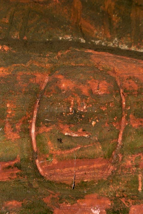 Caverna sulla traccia di escursione Eifelsteig immagine stock