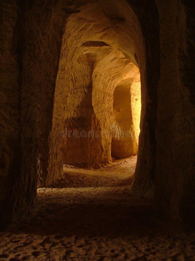 Cavernas da areia fotografia de stock royalty free