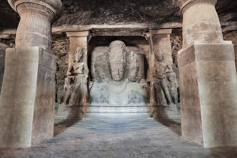 Cavernas da ilha de Elephanta foto de stock