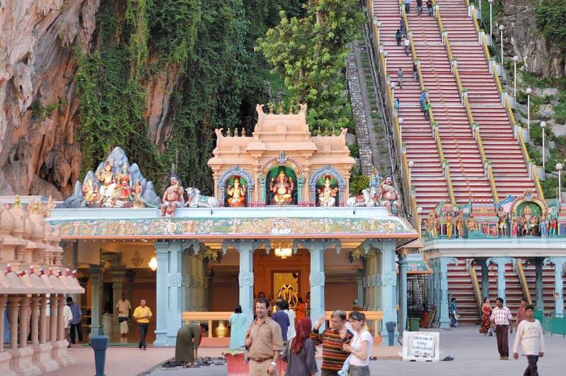 Cavernas de Batu do templo de Vinayagar @ imagem de stock