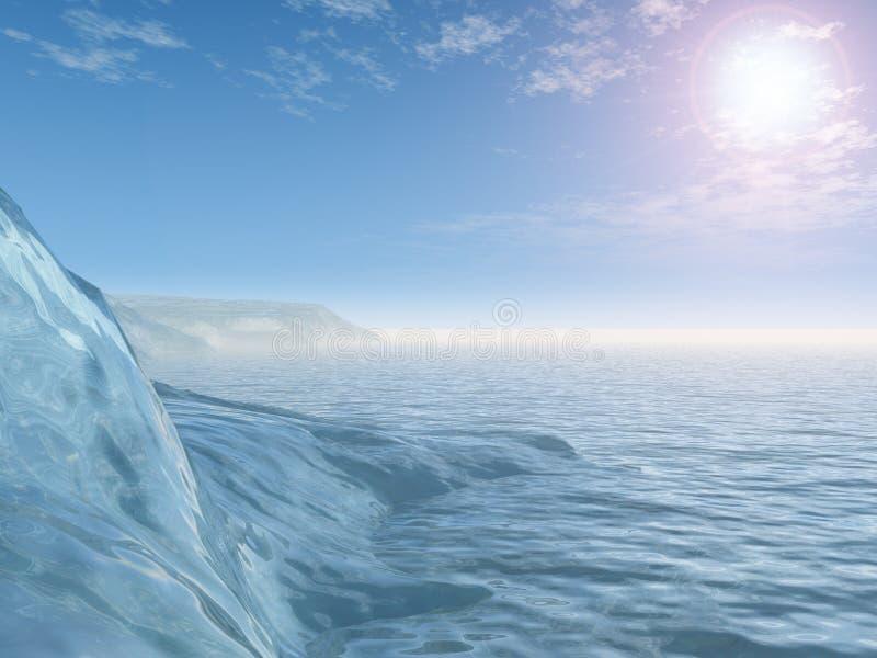 Cavernas de gelo antárcticas ilustração do vetor
