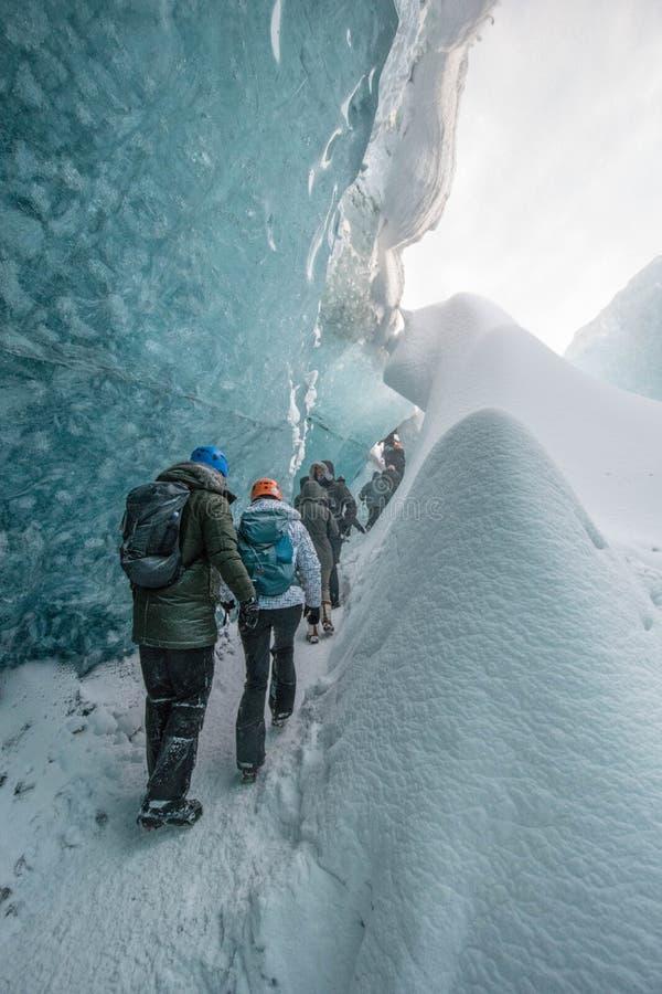 Cavernas de gelo Islândia Jokulsarlon foto de stock royalty free