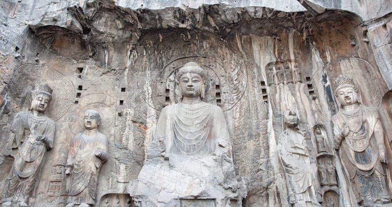 Cavernas de Longmen imagem de stock