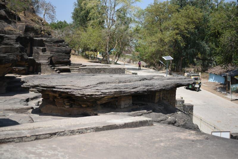Cavernas de Udayagiri, Vidisha, Madhya Pradesh imagens de stock