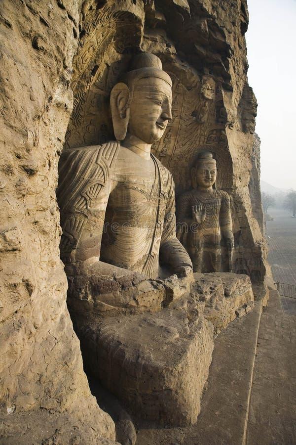 Cavernas de Yungang imagem de stock royalty free