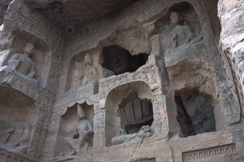Cavernas de Yungang, Datong, China fotografia de stock