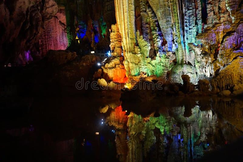 Caverne argentée, Chine photos libres de droits
