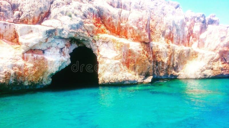 Caverne bleue image stock