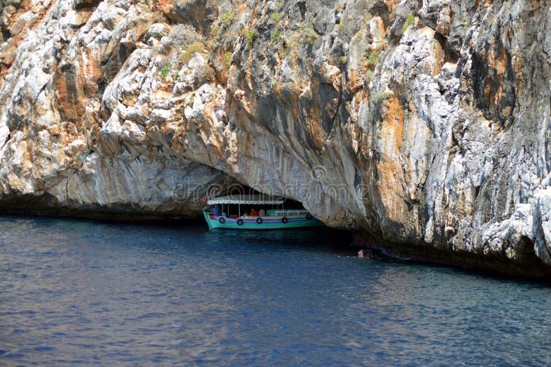 Caverne chez Alanya Coiast image libre de droits
