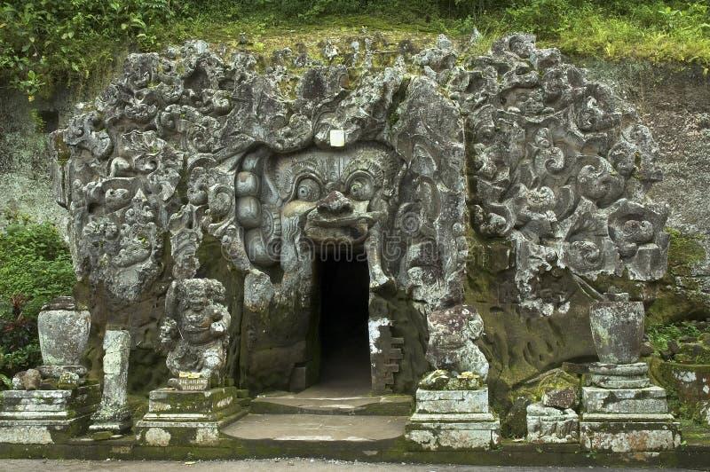 Caverne d'Elefant, bali photographie stock libre de droits