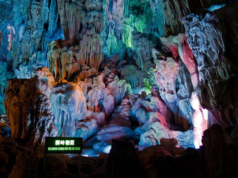 Caverne de cannelure dans Guiling images libres de droits