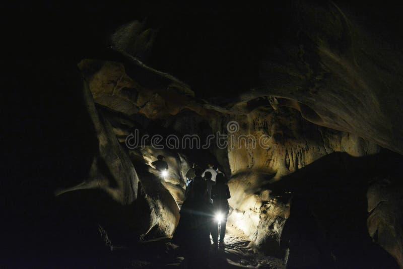 Caverne de Chiangdao en aventure de Chiang Mai Thailand images libres de droits