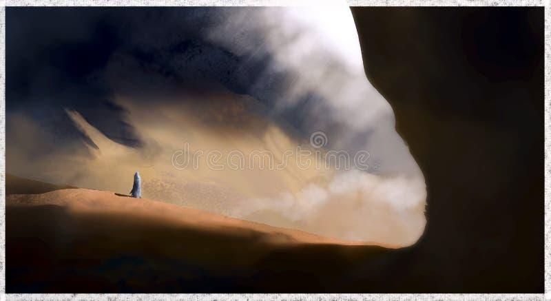 Caverne de désert image libre de droits