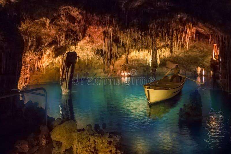 Caverne de Drach d'île de Majorque photos libres de droits