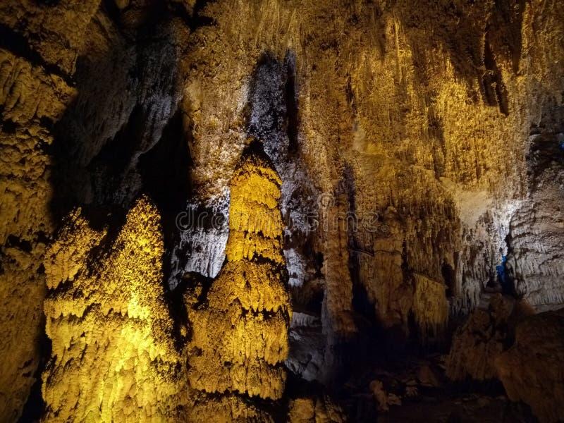Caverne de Furong, comté de Wulong, Chongqing, Chine images libres de droits