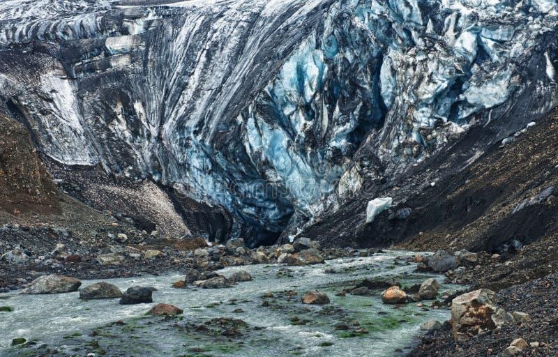 Caverne de glace de glacier photos libres de droits