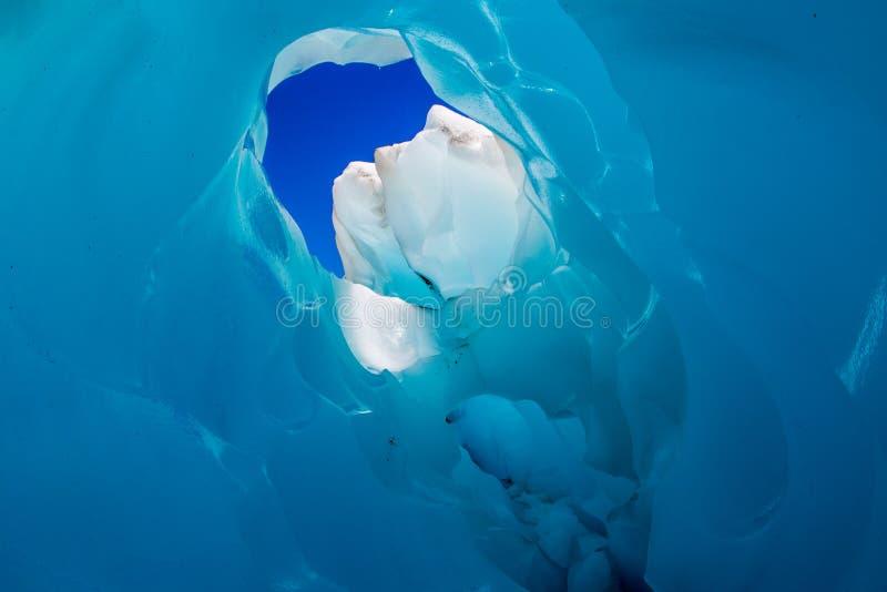 Caverne de glace de glacier de Fox photo stock