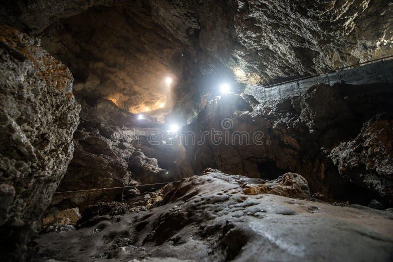 Caverne de gorge du ` s de diable photo libre de droits