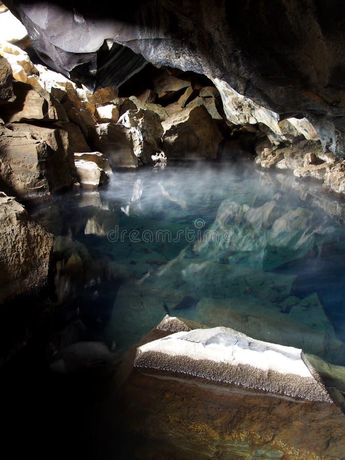 Caverne de Grjotagja image stock
