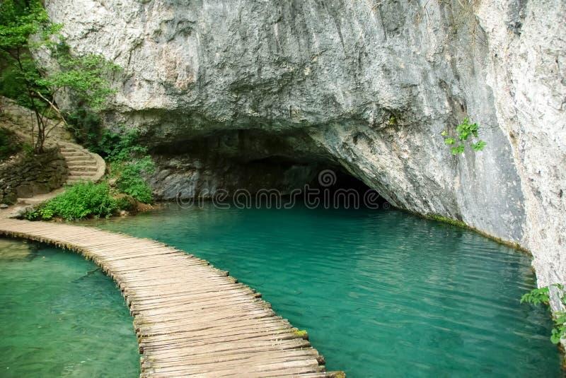 Caverne de l'eau photo stock
