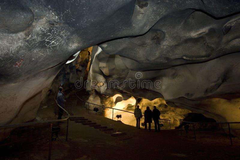 Caverne de Magura en Bulgarie Peintures préhistoriques sur la roche photo libre de droits