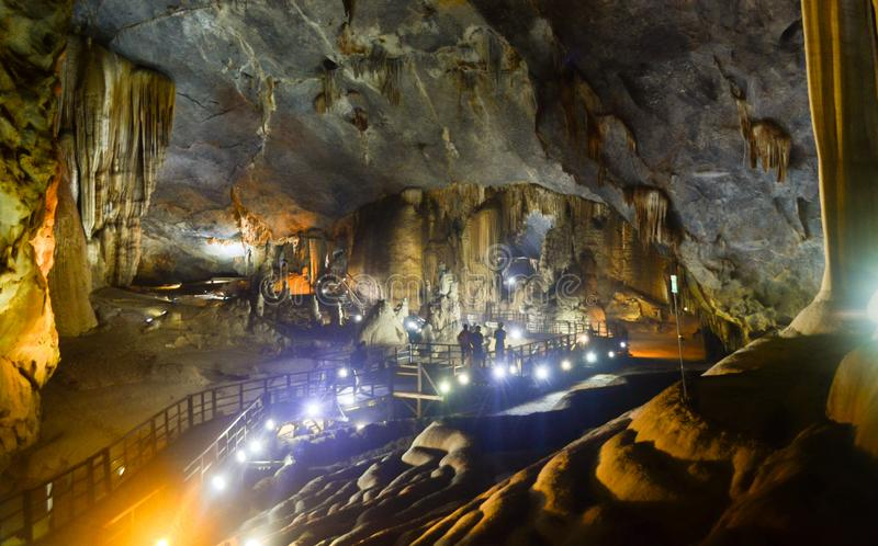 Caverne de Paradise au coup de Phong Nha-KE photos stock