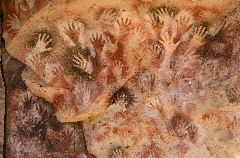 Caverne des mains photo libre de droits