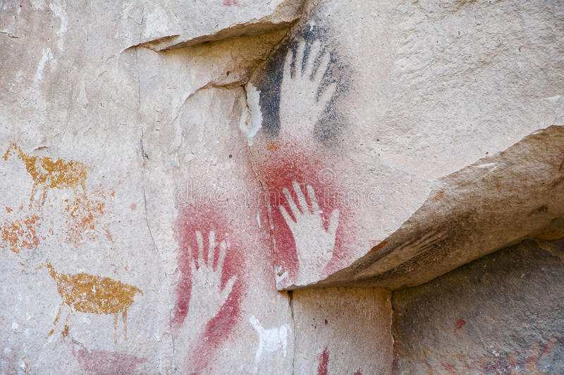 Caverne des mains - Argentine photo stock