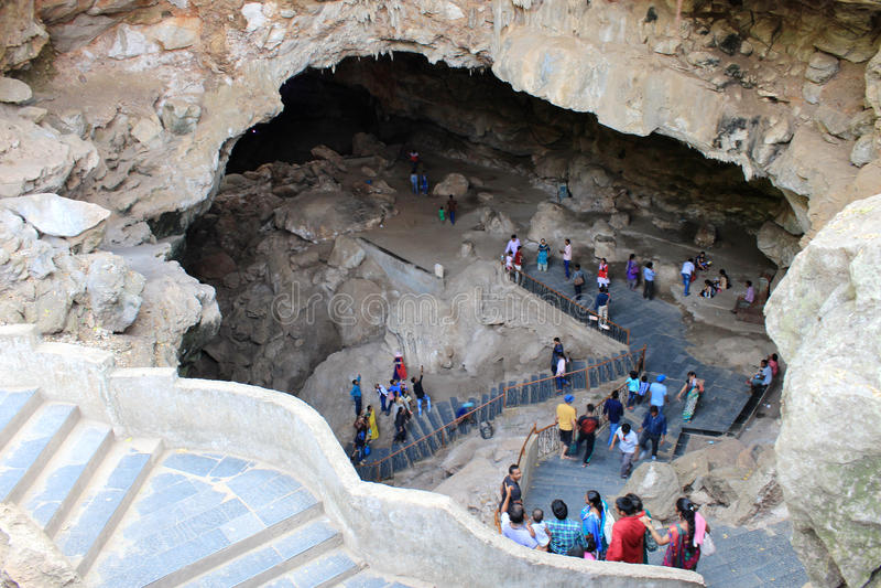 Caverne di Borra, valle di Araku, Andhra Pradesh, India fotografia stock