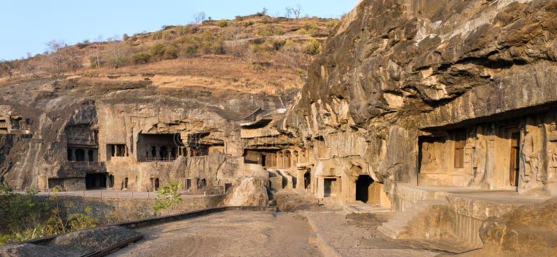 Caverne di Ellora vicino a Aurangabad immagine stock libera da diritti