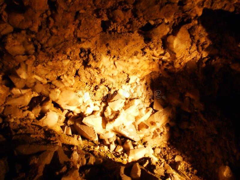 Caverne en cristal Kobelwald ou matrice Kristallhöhle Kobelwald Kristallhohle Kobelwald ou Kristallhoehle Kobelwald image libre de droits