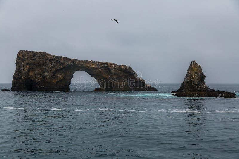 Caverne et voûte de mer images stock