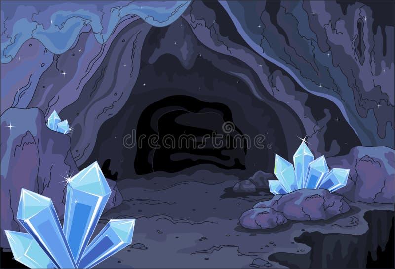 Caverne féerique illustration libre de droits