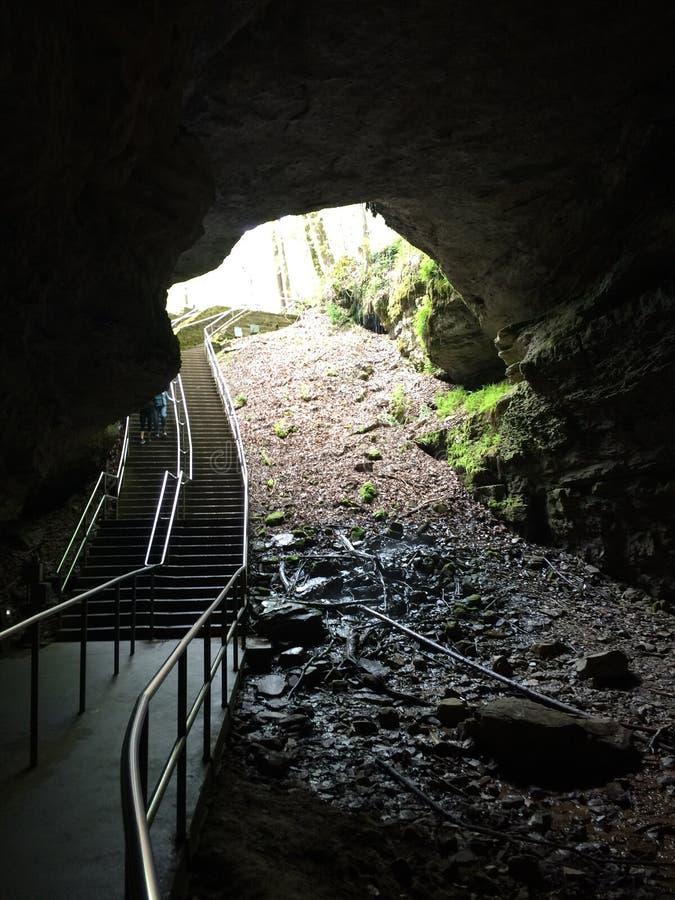 Caverne gigantesque photos libres de droits