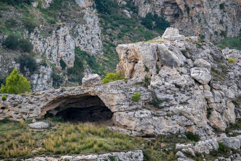 Caverne sous la ville de Matera, Basilicate, Italie image libre de droits
