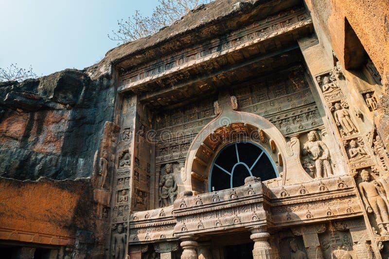 Cavernes d'Ajanta dans l'Inde photographie stock