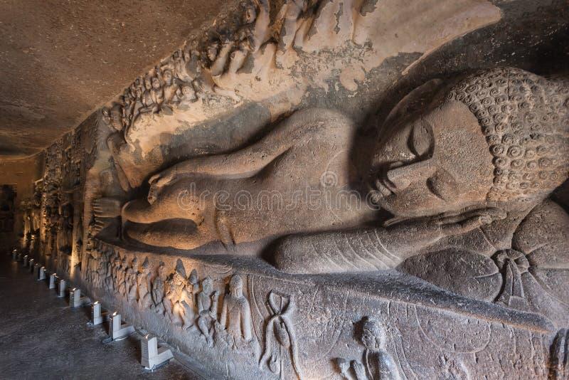 Cavernes d'Ajanta, Inde images libres de droits