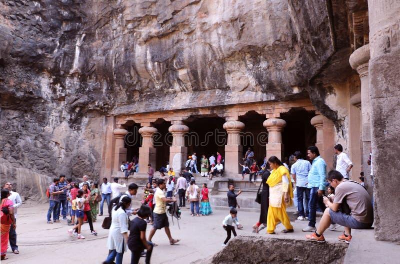 Cavernes d'Elephanta, Mumbai photos libres de droits