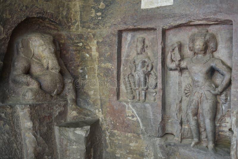 Cavernes d'Udayagiri, Vidisha, Madhya Pradesh image stock