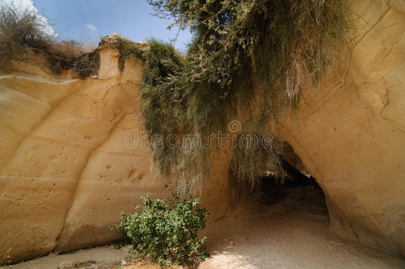 Cavernes de Beit Guvrin (Maresha) photo stock