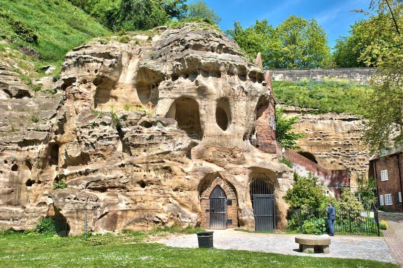 Cavernes de château de Nottingham photographie stock libre de droits