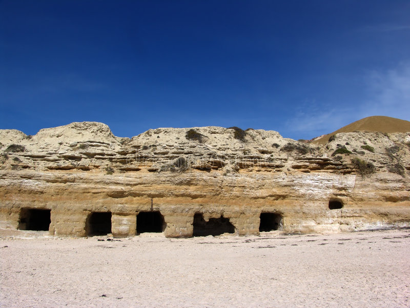 Cavernes de falaise photo libre de droits