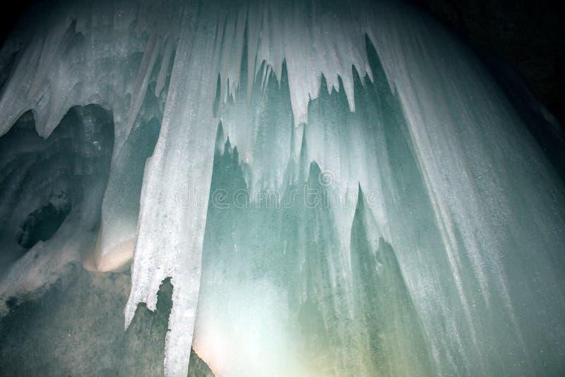 Cavernes de glace images libres de droits