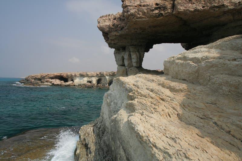 Cavernes de mer photo stock