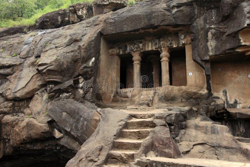 Cavernes de Pandu Leni photographie stock libre de droits