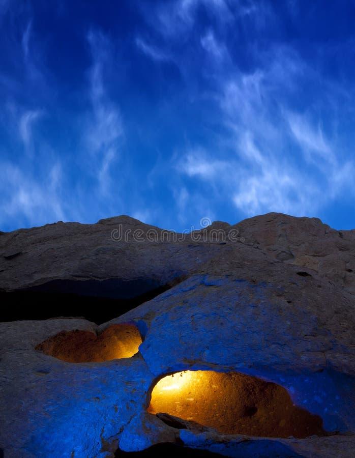 Cavernes mystérieuses image stock