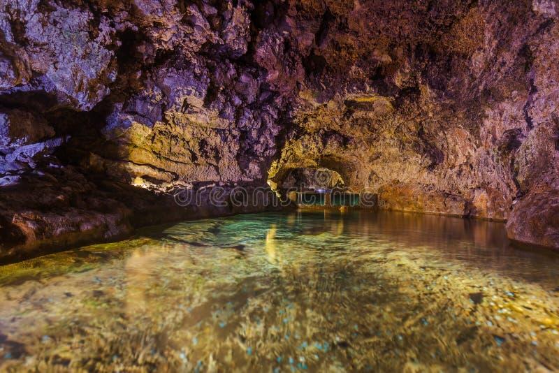 Cavernes volcaniques dans le sao Vicente - Madère Portugal image stock