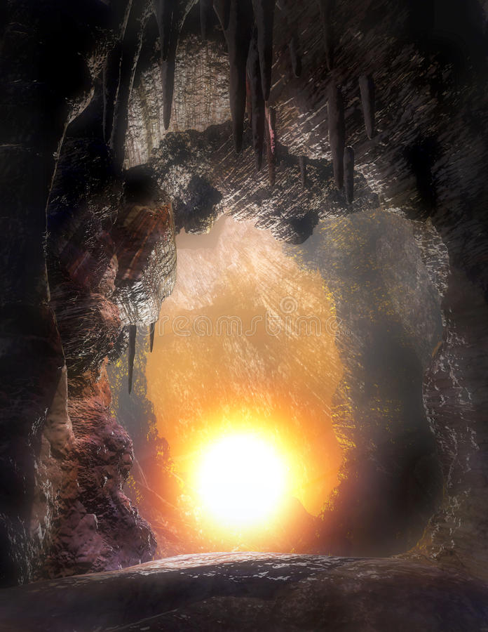Caves-4 stock de ilustración