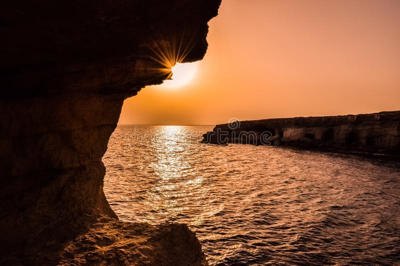 Caves, Cyprus, Dawn stock photography