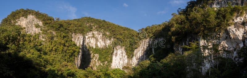 Caves in Gunung Mulu stock image